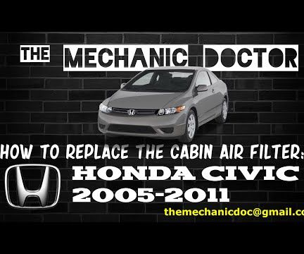 How to Replace the Cabin Air Filter: Honda Civic 2005-2011