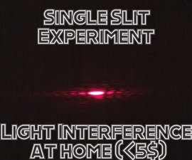 Diffraction Experiment at Home (& How to Measure Tiny Things!)