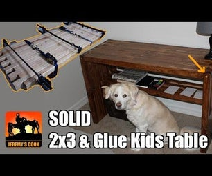 SOLID Kids Table With 2x3s and Glue