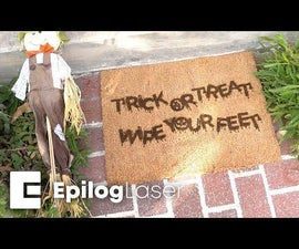 Laser Engraving a Halloween Doormat