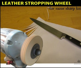 Leather Stropping Wheel