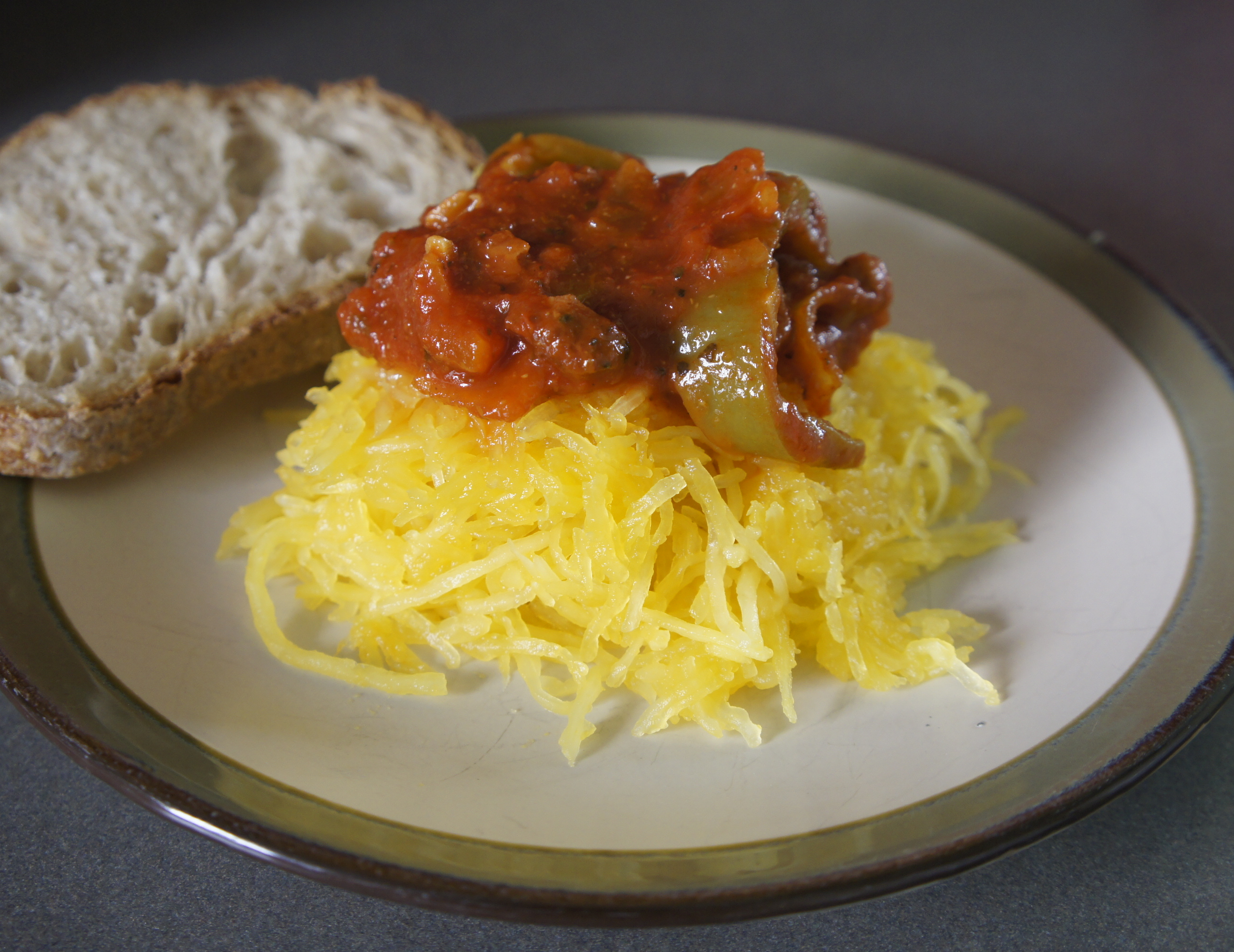 Roasted Spaghetti Squash Dinner