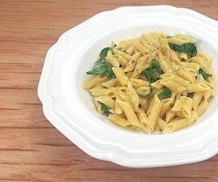 奶油大蒜和菠菜alfredo [低钠]