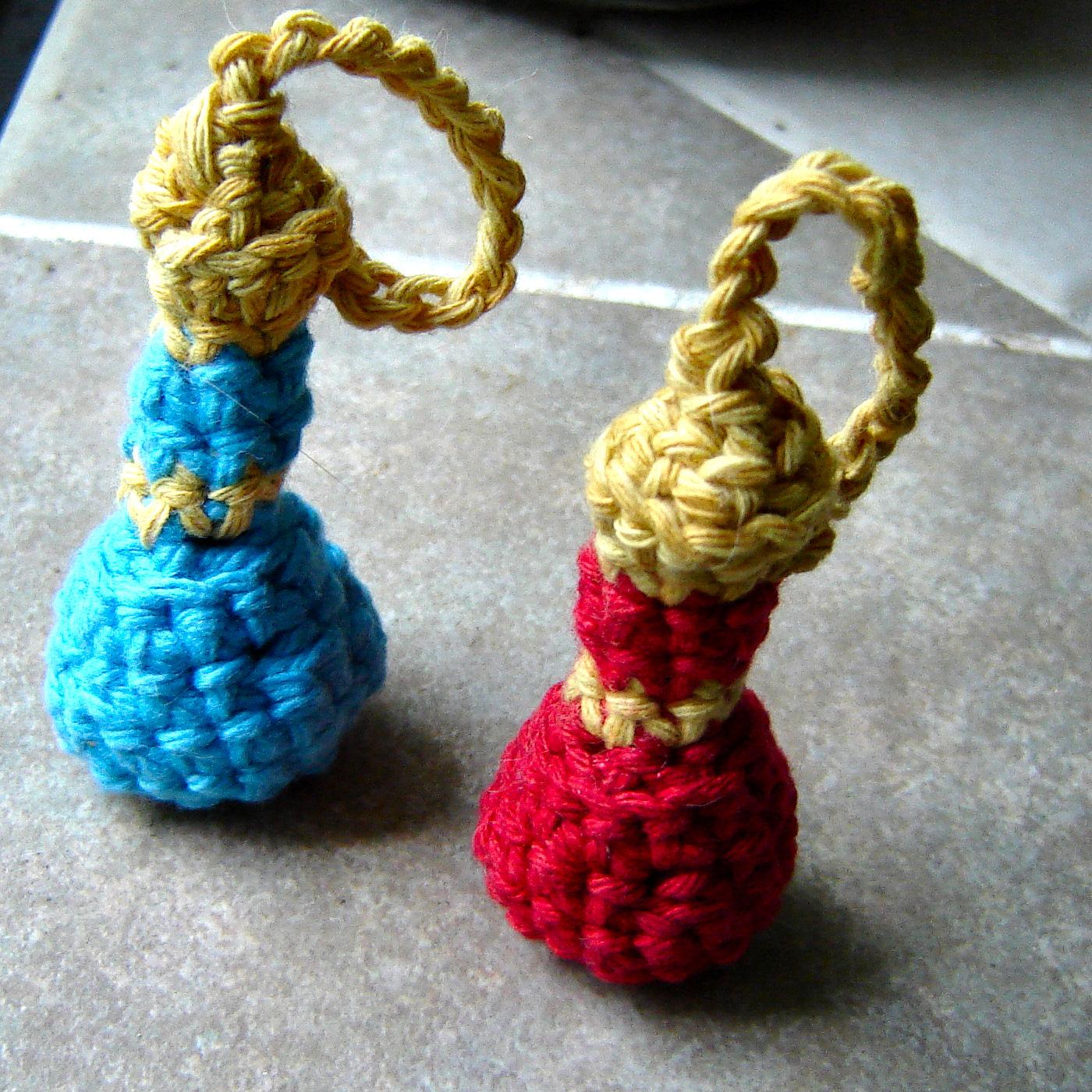 Crochet Mana and Health Potion Bottle