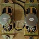 Double Speakers on Wood