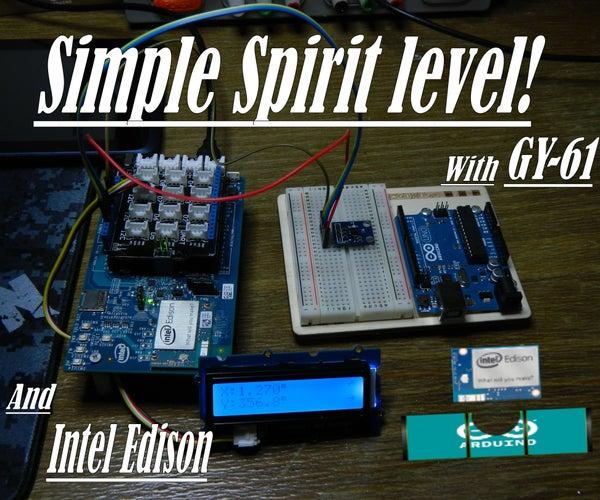 Intel Edison Basic's: Spirit Level