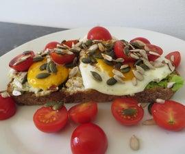 Open-Faced Egg & Avocado Sandwich