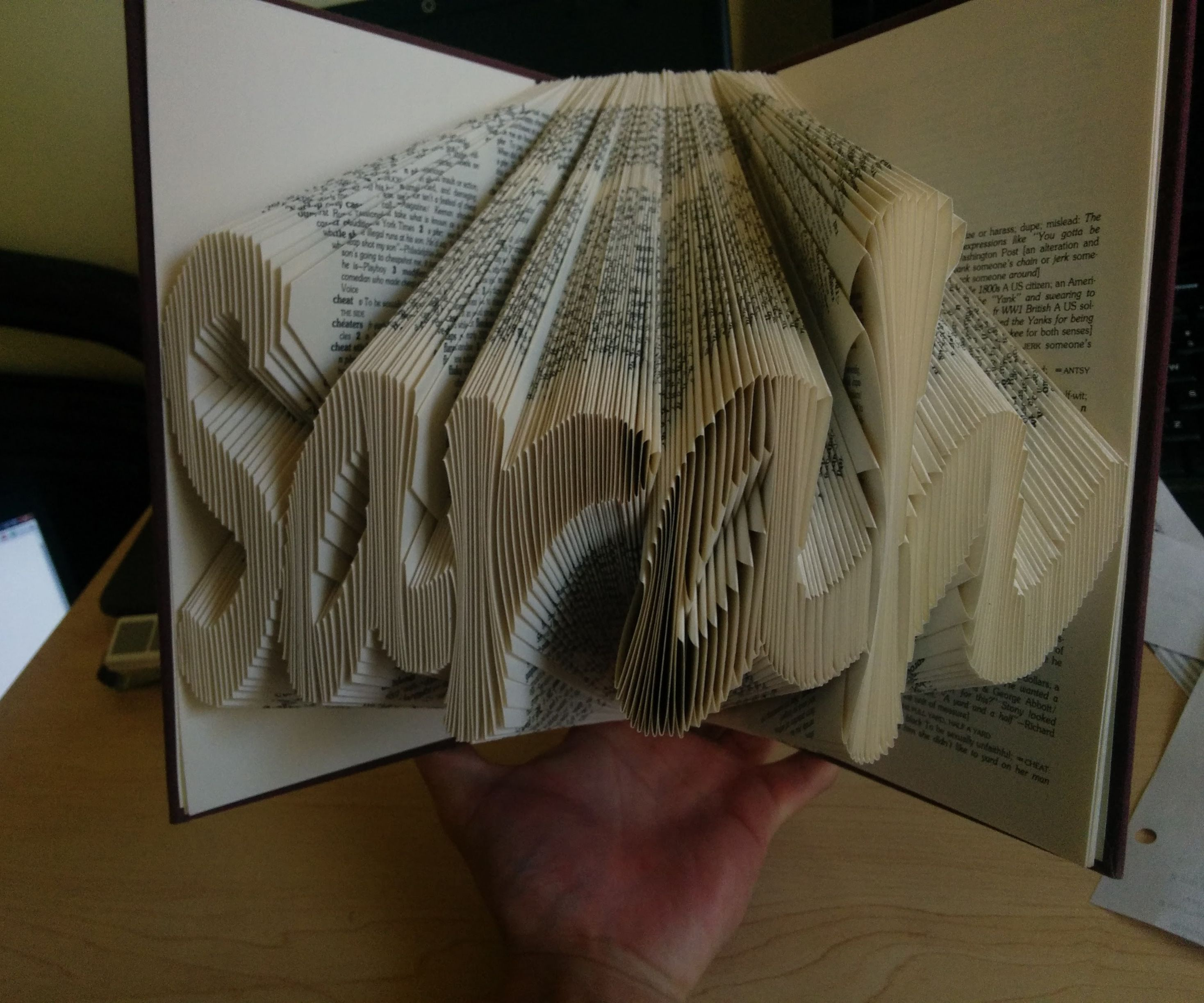 Folded Book Sculpture Gifts