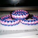Trans* flag paracord bracelet (three colors)