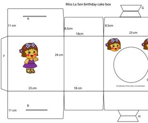 Miss La Sen Birthday Cake Box
