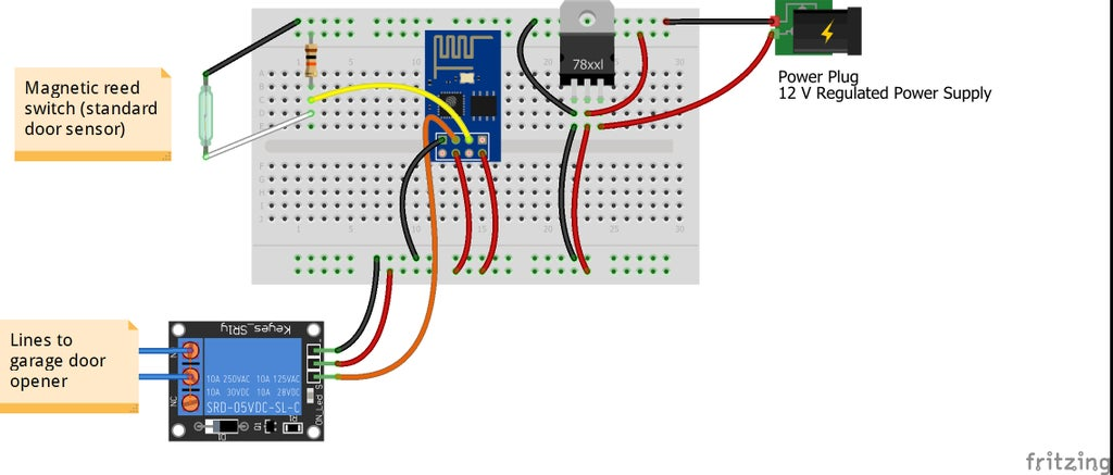 smart phone wifi controlled garage door opener with