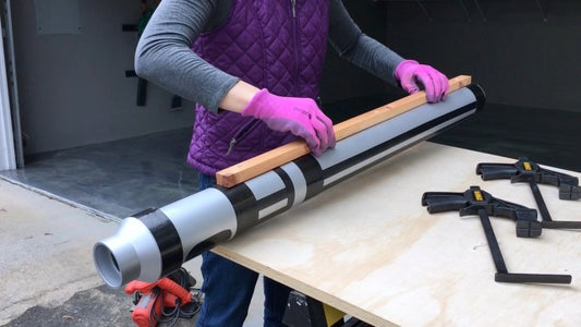 Screw Wood Side Pieces Onto Lightsaber Handle