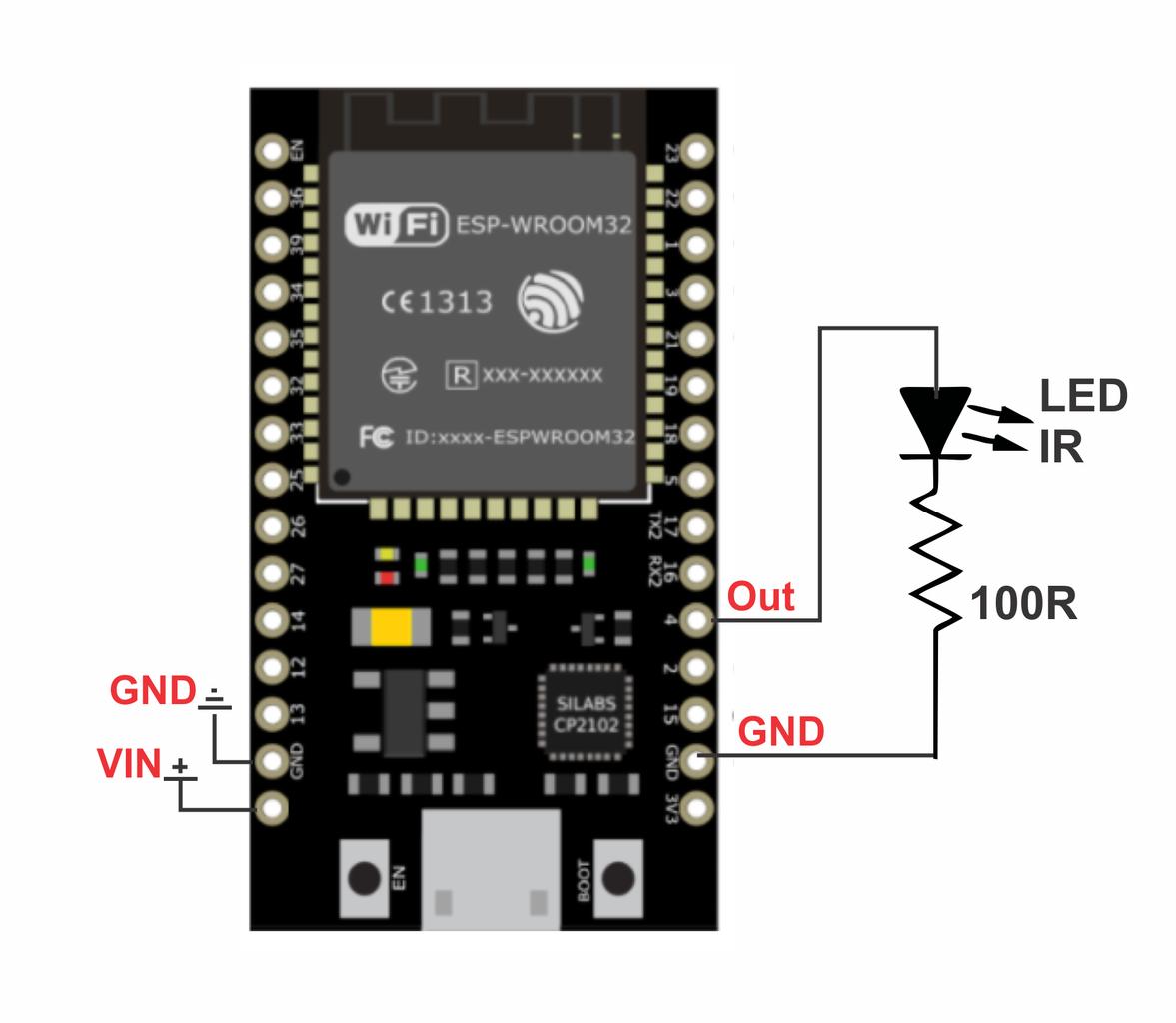 (opcional) Minimodulo Emissor IR (para Outros Cômodos)