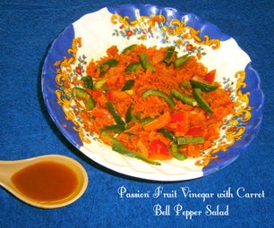 Passion Fruit Vinegar (From Scratch) With Carrot Bell Pepper Salad
