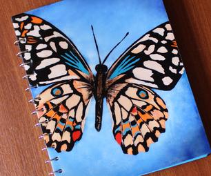 制作自己的蝴蝶笔记本