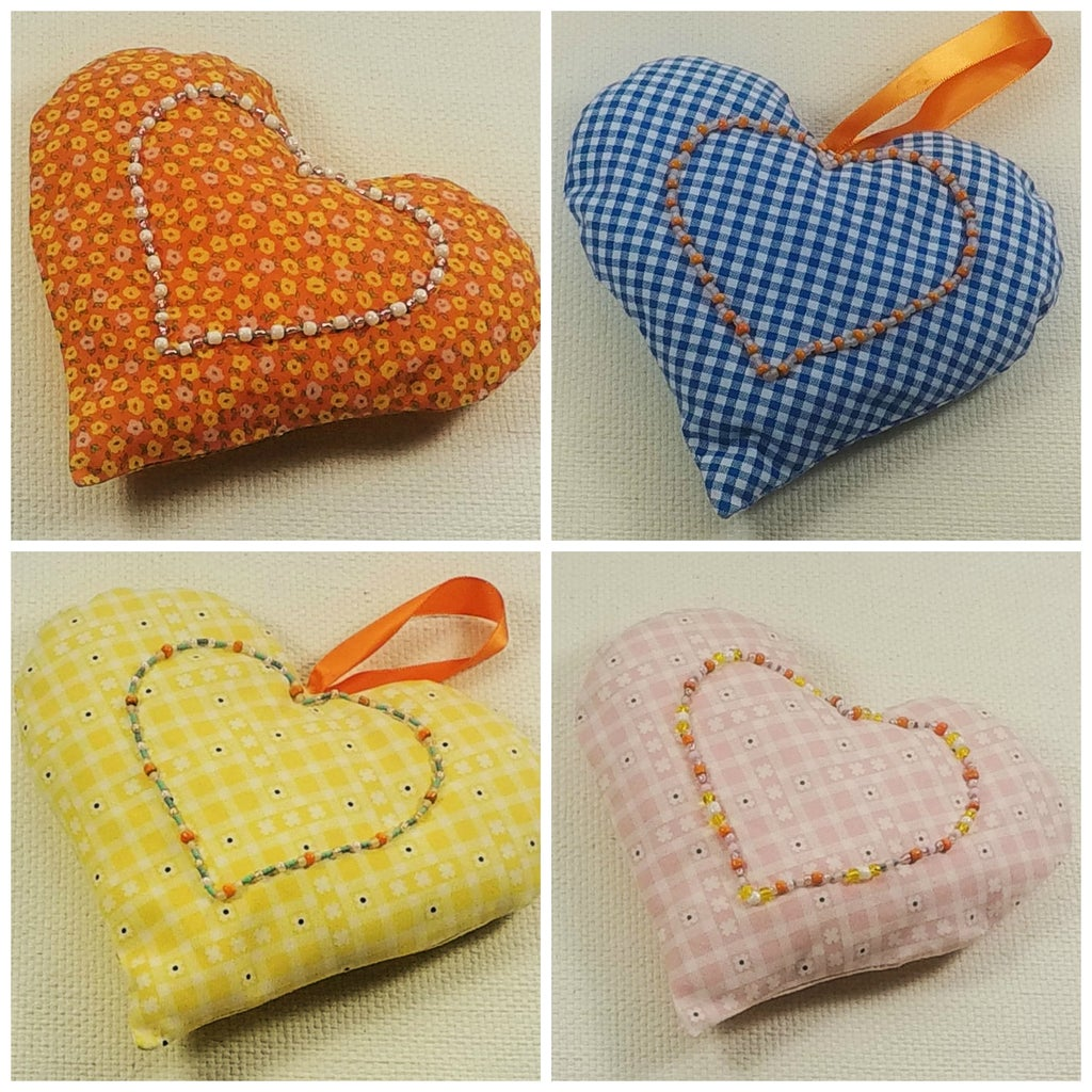 Bead Embroidery Calico Heart