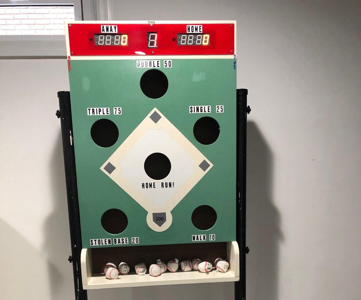 Electronic Scoring for a Bean Bag Toss Baseball Game