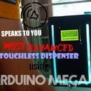 Smart Talking Fluid(sanitizer) Dispenser Using Arduino MEGA