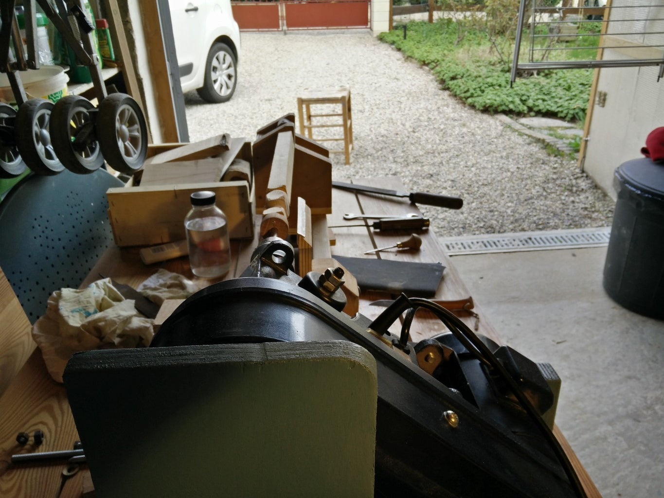 Drill Press to Lathe With a Bit of Scrap Wood