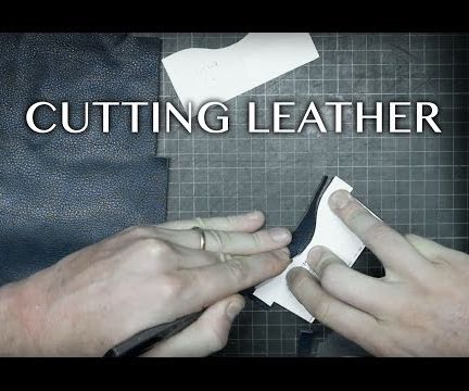 simple wallet making/how to cut the leather (part 2)