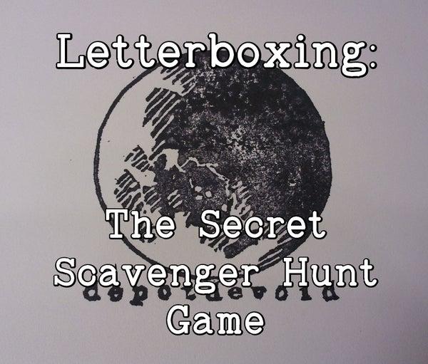 Letterboxing:  the Secret Scavenger Hunt Game