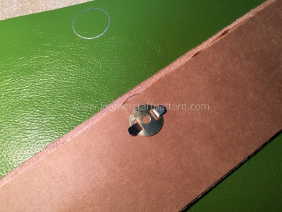 Install Magnetic Button, Here I Add a Piece of Thick Paper to Strengthen the Soft Leather