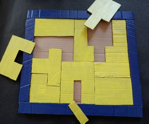 Cardboard Puzzle Game