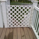 Simple outdoor deck gate