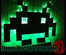 Floppy Disc Space Invader Wall Deco