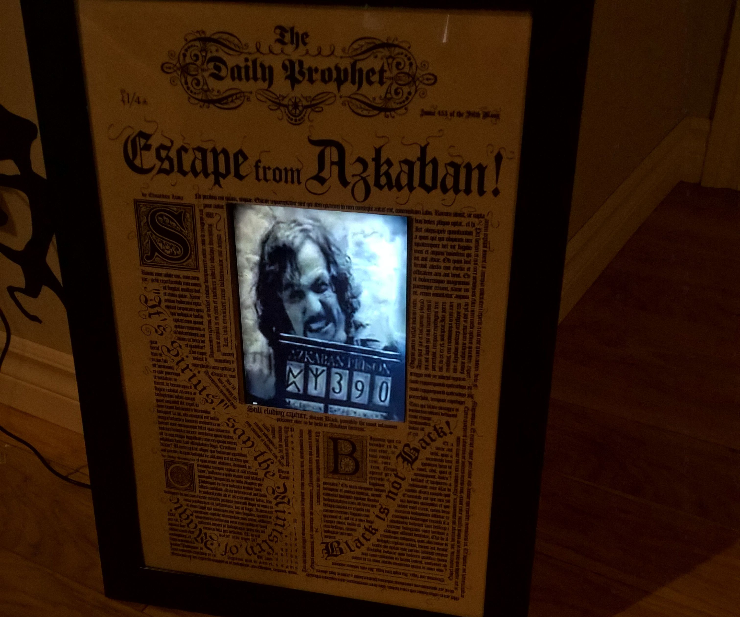 Moving Sirius Black Wanted Poster (Harry Potter)