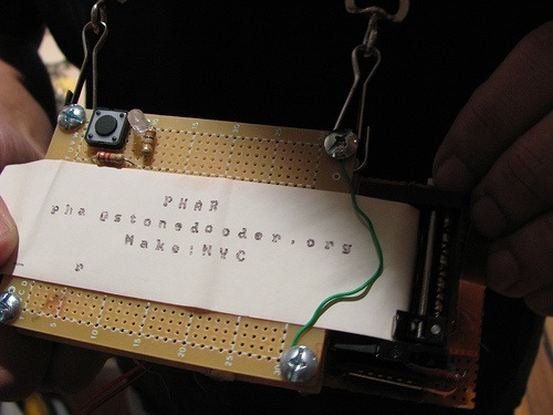 Make:NYC Badge Contest entry from an old GameBoy printer