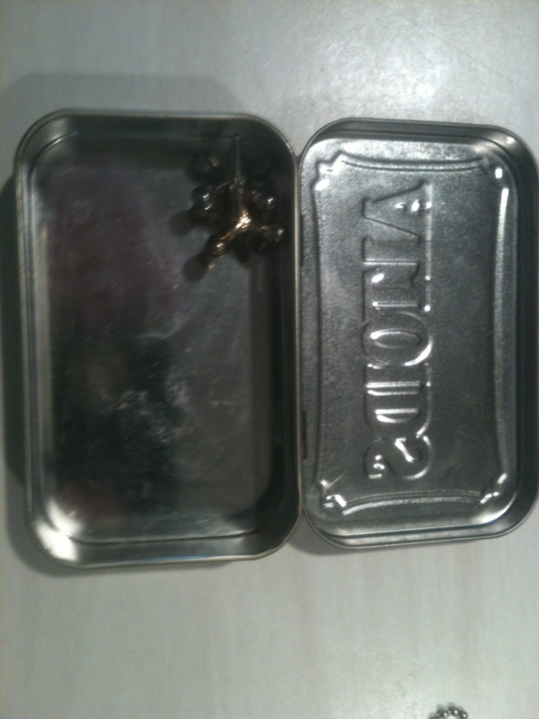 Placing the Item in the Tin (optional)