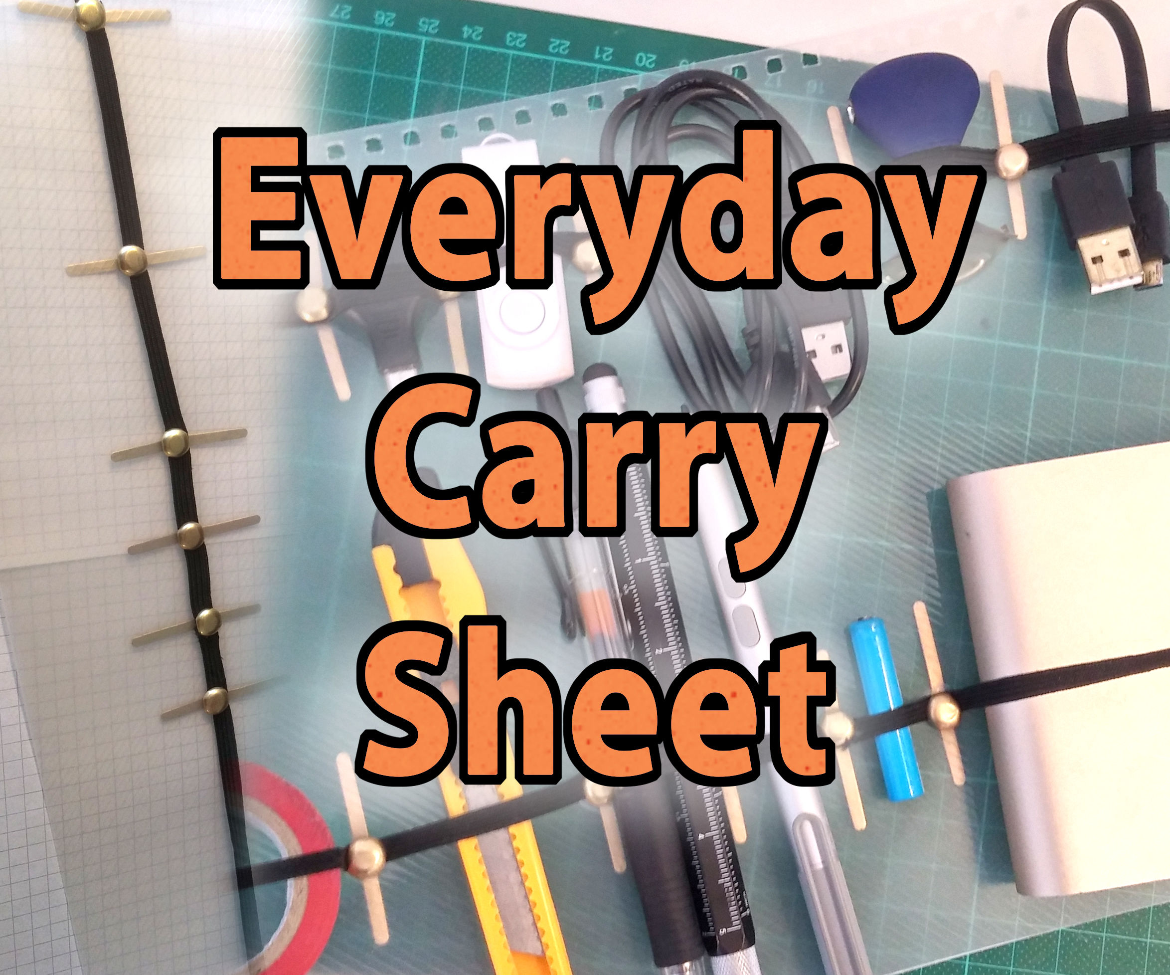 Everyday Carry Sheet - EDC