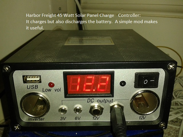 Make the Harbor Freight 45W Solar Panel Charge Controller useful with a simple mod.