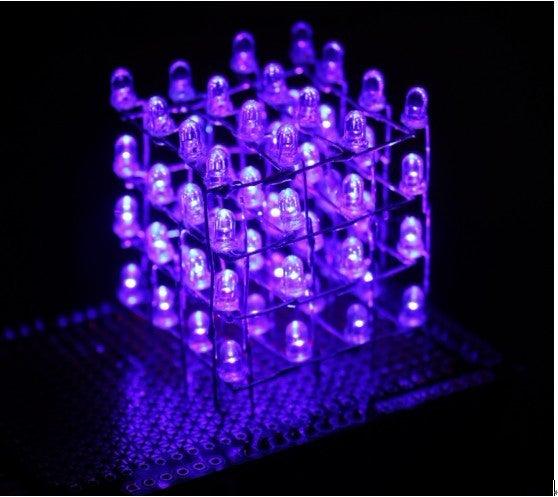 4x4x4 LED-cube Based Arduino and Flower Protoboard