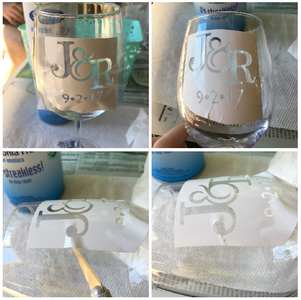 Clean the Glass and Apply Stencils