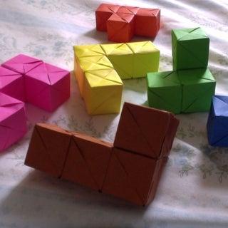 Origami Tetris Cube