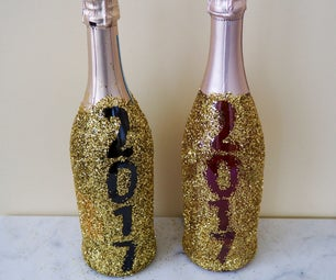 Glitter Champagne Bottles for New Years