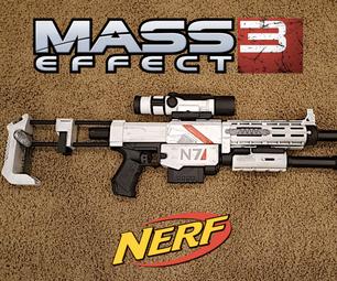 Mass Effect Modded Nerf Gun