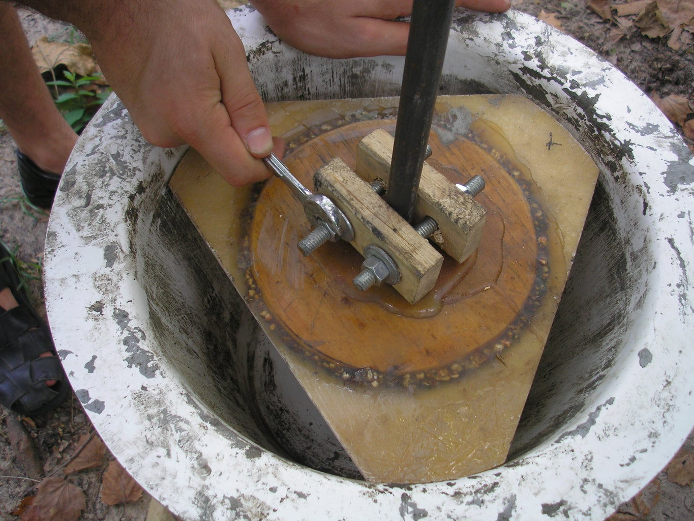 Attach Clamp to Shaft
