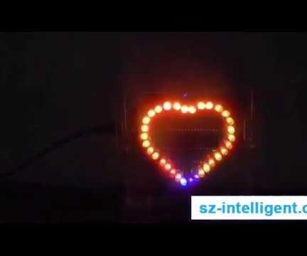 DIY Interesting Love Heart Chasing Effect LED Lights