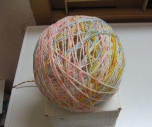 Lampshade Made With Glued Yarn