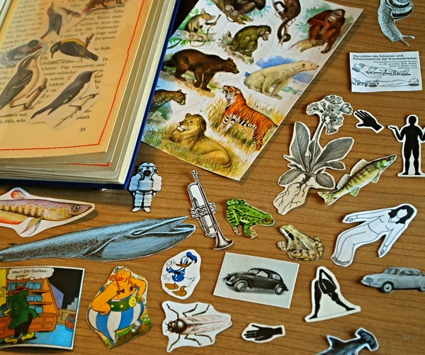 Recycle Old Books Into Stickers