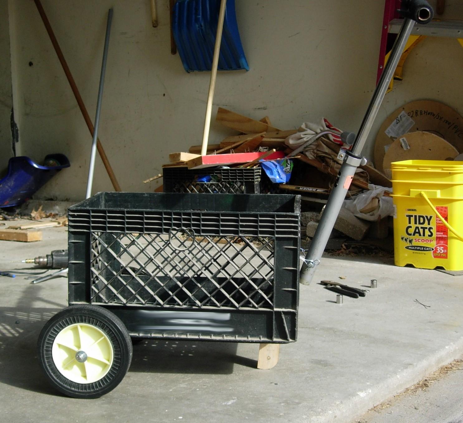 Build a Milk Crate Cart