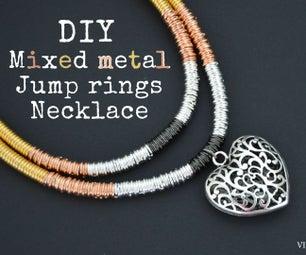 DIY Mixed Metal Jump Ring Necklace