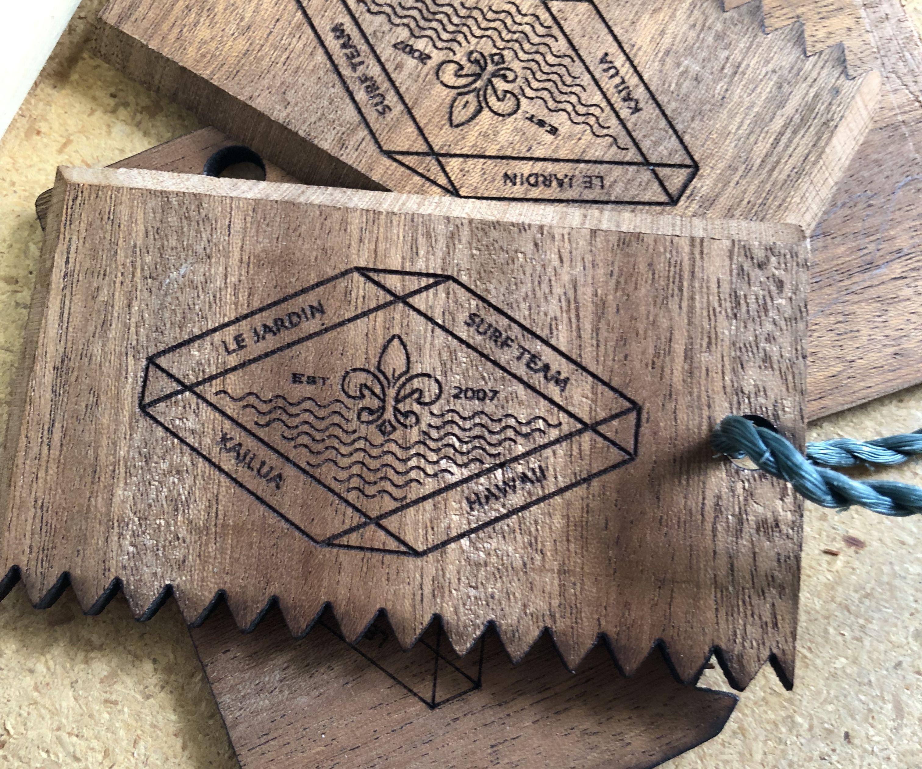 Laser Printed Surfboard Wax Comb