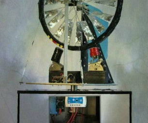 12/24 Volt Wind Turbine Power Station - Starts Charging Batteries in 2mph Winds