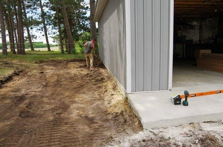 Concrete Forms and Rebar – Our Garage Slab Prep