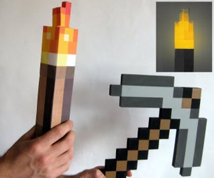 Light-Up Minecraft Torch Using a Joule Thief