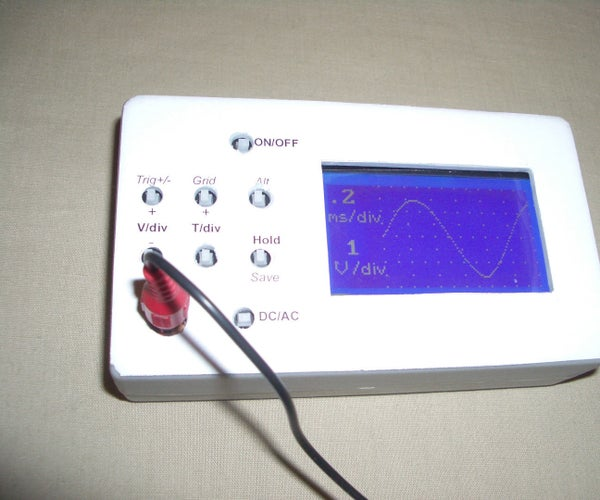 Digital Oscilloscope With LCD Screen